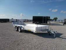 2021 Aluma 8116TASR 16' Aluminum ATV UTV Trailer w/ Side Ramps