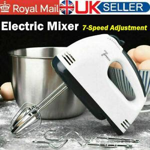 NEW Electric Handheld Whisk Hand Mixer Kitchen Egg Beater Cake Cream Blender UK