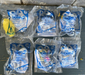 LOT OF 6 SEALED McDONALDS HAPPY MEAL SMURFS 2 TOYS ~ 9, 10, 11, 12, 13, 14