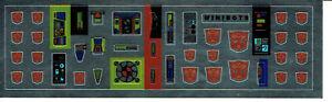 TRANSFORMERS GENERATION 1, G1 AUTOBOT MINIBOTS REPRO LABELS / STICKERS