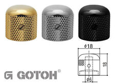 Electric Guitar Stratocaster Style Control Knobs - GOTOH Brass knob, Dome top