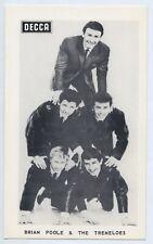 1960'S SHOP PROMO CARD  BRIAN POOLE & THE TREMELOES DECCA ADELAIDE SA. L648
