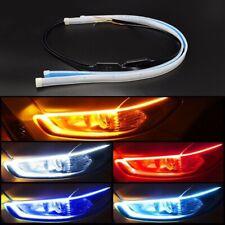 Car LED Light Strip Lamp Headlight Brake Side Turn Signal Auto Decor DRL 2pcs