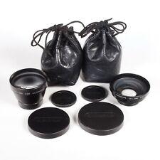 X2 Vtg Olympus 49mm IS/L HQ Converter Lenses A-200 1.5X & A-28 0.8X -Caps & Bags