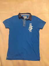 Mens Superdry Vintage Polo Shirt Medium Blue Good Condition