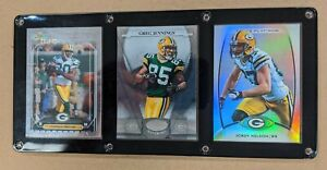 GREEN BAY PACKERS RECEIVERS 3 CARD PLAQUE DONALD DRIVER JENNINGS JORDY NELSON