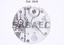 """Roskopf Wille Fréres WF 19"""" 6 19/6 Patent 30353 part 301 Regulator  Racchetta"""