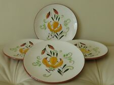 Vintage STANGL Tiger Lily Set of 4 Bread and Butter Plates 6 1/4""