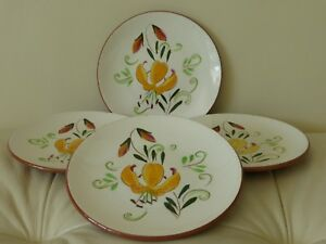 """Vintage STANGL Tiger Lily Set of 4 Bread and Butter Plates 6 1/4"""""""