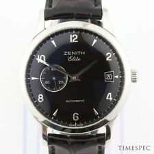 Zenith men's Elite Automatico in Acciaio Inox con documenti