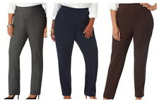 Gray Black or Brown Crepe Knit Pants Sz 0X 2X or 5X Trousers Slacks by Catherine