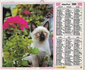 Almanach 1990 Calendrier de la poste PTT - HAUTE-SAONE 70  & Ter. de BELFORT 90