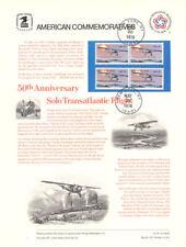 #76 13c Lindbergh Flight #1710 Commemorative Panel w/1st Anniversary Stamp PM