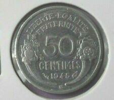 50 centimes morlon alu 1945 B : B proche du listel : SUP : monnaie française N11