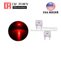 100pcs 3mm Piranha Super Flux Red Light Round Top LED Diodes Ultra Bright USA