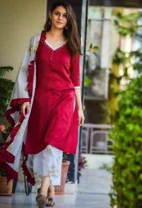 Lawn Suit,Salwar Kameez Kurta,Indian Suit Readymade New With Defeats -Large/40