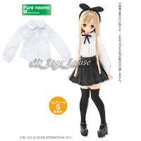 Azone Pureneemo Round Collar Pin Tuck Blouse White Pullip Momoko Doll DAL Obitsu