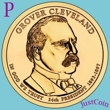 2012-P GROVER CLEVELAND 2nd TERM GOLDEN PRESIDENTIAL DOLLAR FROM MINT ROLL UNC