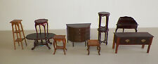 MINIATURE DOLL HOUSE FURNITURE LOT OF 10 PIECES BESPAQ & OTHER GOOD USED