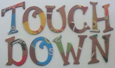Sports *Touch Down* Team Glittery Football Chipboard Letters Die Cuts 1.5""