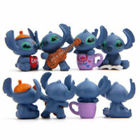 4pcs Disney Lilo & Stitch Action Figures Display Toy Kids Gift 3.5CM