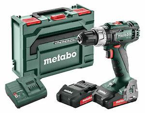 Metabo SB 18 L 18v Cordless Combi Hammer Drill C/W 2x 2.0Ah Li-ion Batteries