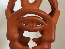Photophore vase céramique 4 visages signée Jean MARAIS Vallauris école Cocteau