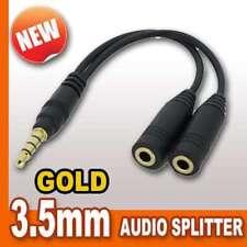 Audio de 3.5 mm Sonido Divisor Auriculares Auriculares Y Cable Lead Black Para Mp3 Ps Vita