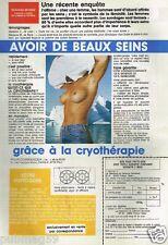 Publicité advertising 1989 Cosmétique cryothérapie pour les seins