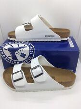 BIRKENSTOCK Women Arizona White Birko Flor Slides Sandal Shoes Sz 10 EU41 ZB6-55