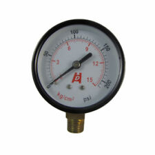 "2.5"" 60mm Brass Pressure Gauge 0-15 bar 210psi Manometer  PT1/4"" Thread jx"