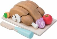 Le Toy Van HONEYBAKE CHICKEN 'SUNDAY ROAST SET' + TRAY AND KNIFE Toy BN