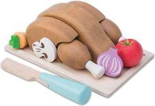 Le Toy Van HONEYBAKE CHICKEN 'SUNDAY ROAST SET' + TRAY AND KNIFE Toy BN