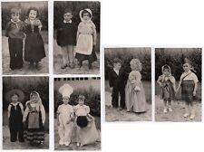 PHOTO LOT 6 Photos Classe de Maternelle École Écolier 1950 Déguisement Couple