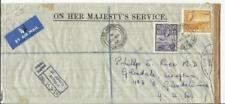 Antigua Oficial Sealed-Crown Ovalado St John '' s28 / Mi / 56 Aéreo Registrado