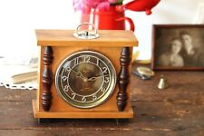 Wooden Table Clock Art Deco Desk Clock Vintage Mechanical Clock Desk Clock Mayak
