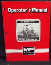 MASSEY FERGUSON MF 230 Tractor, Operators Manual, 1981, 1449015M1, ORIGINAL