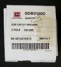 Eaton Cutler Hammer Gdb3100D Type Gdb 14K Circuit Breaker 3 Pole 100 Amp