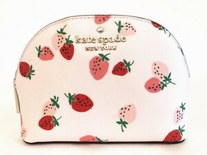 NWT KATE SPADE STACI WILD STRAWBERRIES SMALL DOME COSMETIC CASE BAG WLR00513