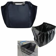 Navy Grab Bag Clip-To-Cart Reusable Grocery Supermarket Shopping Bag Travel bag