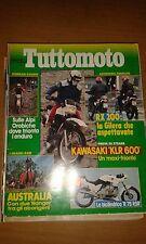 TUTTOMOTO #  7 LUGLIO 1984 - KAWA KLR 600 -BMWR 75 RSR