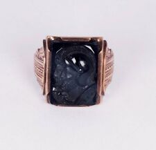 10K Yellow Gold Men's Cameo Estate Ring, Size 10.25