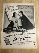 LADY LUCK Robert Young, Barbara Hale / GAYTEES Boots - Vintage 1946 Ads