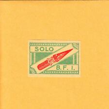 VINTAGE Match Matchbox Label DEEP RICH COLOR Solo B.F.I. Old Ink Pen B1