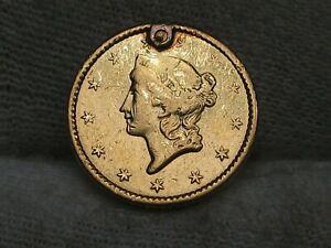 1849 Type I Gold US Dollar - Hole Plugged.  #22