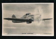Military Aviation RAF HAWKER HURRICANE c1930s? Valentine's Series RP PPC