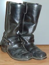 Nitrene Black Leather Riding Boots Motorcycle 8.5 E