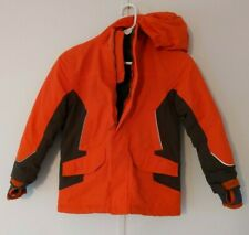 Lands End Kid's The Squall Winter Coat Orange & Green Ski Snowboard Size 7