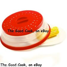 Collapsible Clean Microwave Cooking Plate Bowl Cover Red BPAFree Norpro 2071 New
