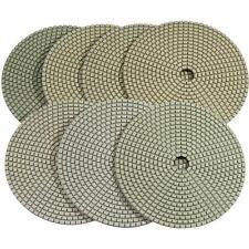 Stadea Diamond Polishing Pads Dry For Concrete Travertine Marble - 5 Pads Set